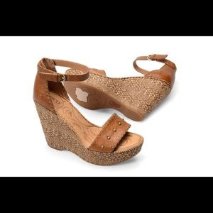 Bohemian High Leather Wedges by BORN